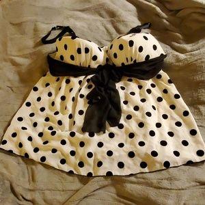 Cato rockabilly polka dot teddy size  26/28
